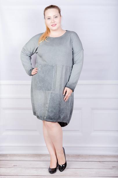 Tuniko-sukienka włoska sznurek szara