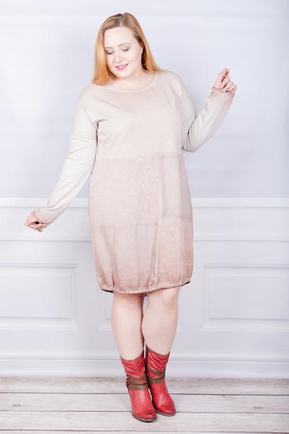 Tuniko-sukienka włoska sznurek pudrowy róż