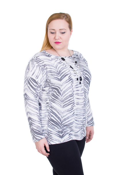 Bluzka La Plus Size Zebra