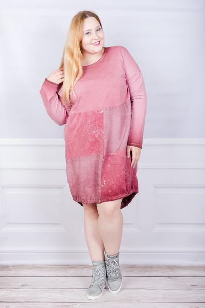 Tuniko-sukienka włoska sznurek różowa