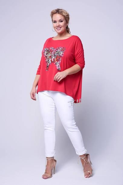 MOTYL bluzka czerwony