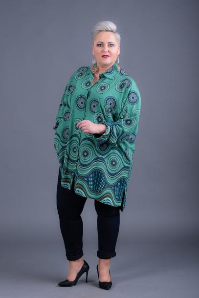 Koszula wzory zielona