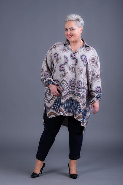 Koszula wzory beżowa