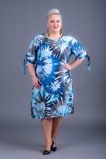 Sukienka wzory niebieska