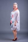 Tuniko-sukienka szyfonowa szara