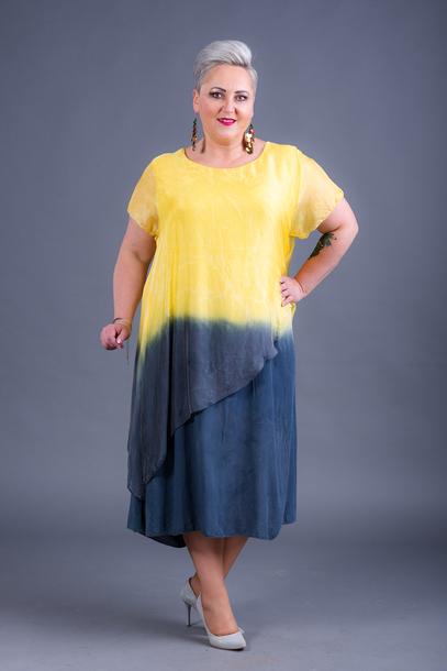 Sukienka jedwabna żółta