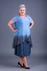 Sukienka jedwabna niebieska