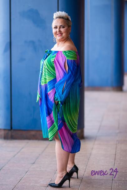 Fonetti Sukienka mix niebieski