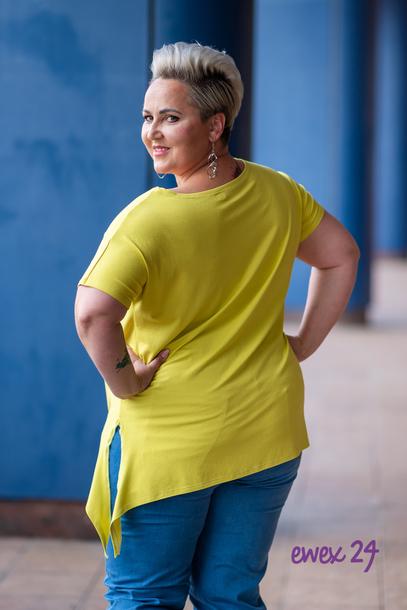 Bluzka wiskoza wiązana żółta