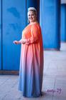 Pandora sukienka cieniowana pomarańczowa