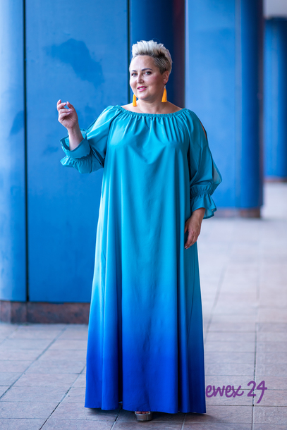 Pandora sukienka cieniowana niebieska