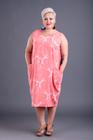 Marmurek sukienka koralowa