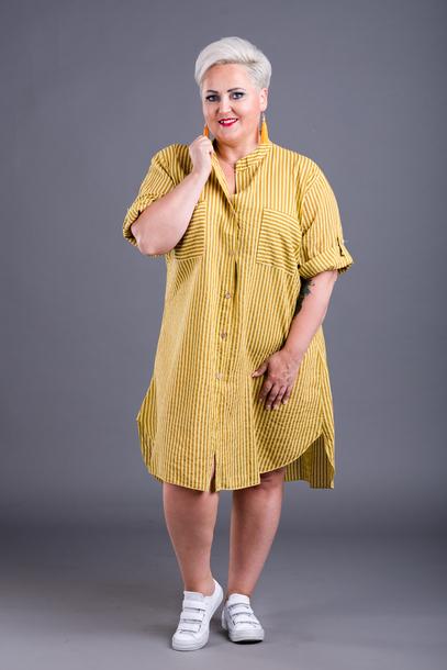 Koszula długa żółta