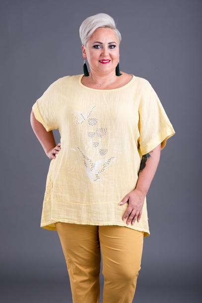 Bluzka z aplikacją żółta