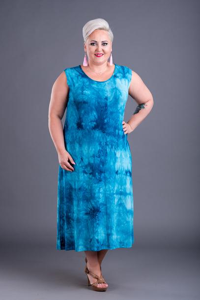 Sukienka Ela marmurek morska