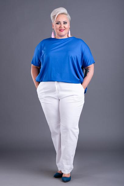 Spodnie wiązane bawełniane białe