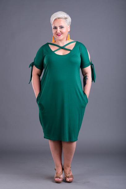 Astri sukienka z wiskozy zielona