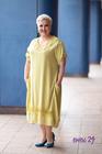 Sukienka dekolt koronka limonka