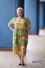 Sukienka w kwiatki żółta
