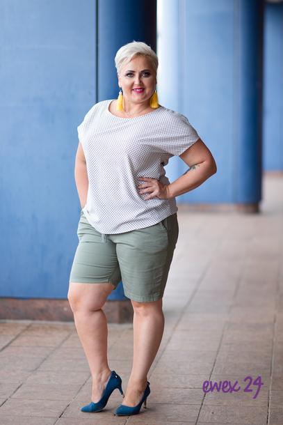 Spodnie krótkie wiązane khaki