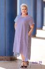 Trapezowa sukienka w paski biało-granatowa (1)