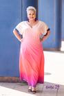 Sukienka długa cekiny różowa (3)