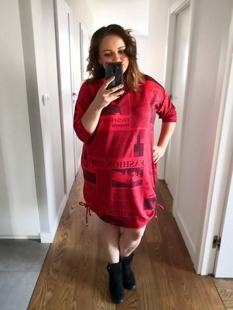 Milo sukienka nadruk czerwona