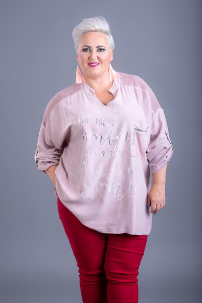 Bluzka winding różowa