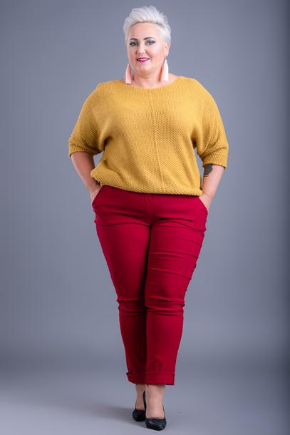 Spodnie prążki czerwone