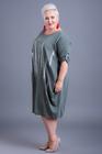 Sukienka z aplikacją  tył wiązany khaki