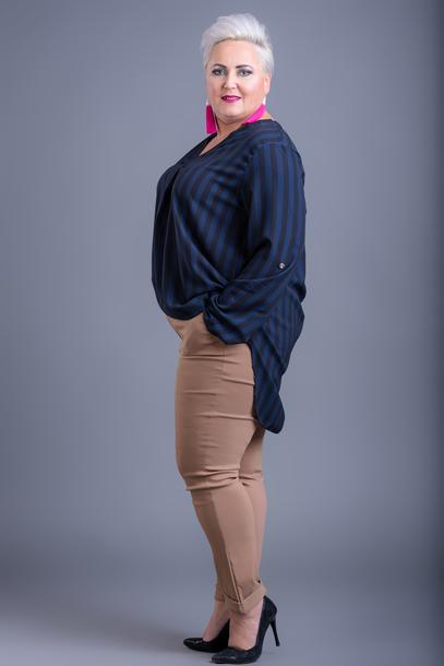 Spodnie gładkie strecz beżowe