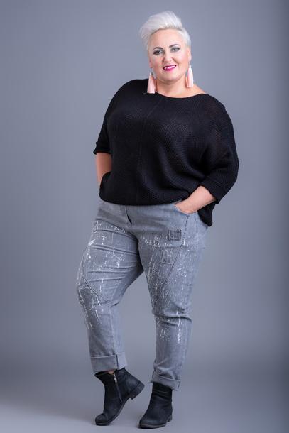Spodnie nakrapiane szare
