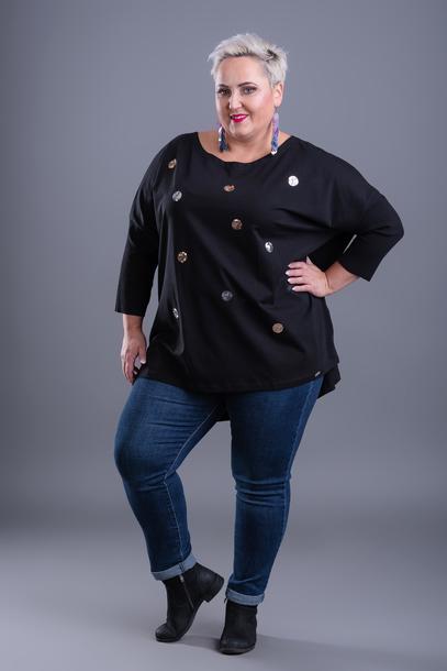 Bluzka kropki cekinowe czarna