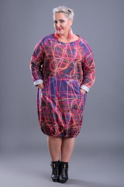 Sukienka Agrafka odcienie różowego