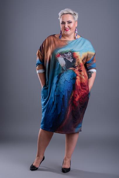 Sukienka papuga