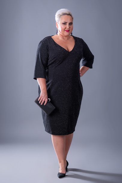 Sukienka brokat czarna
