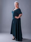 Suknia wieczorowa asymetryczna zielona (2)