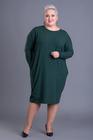 Oversizowa sukienka tuba zielona
