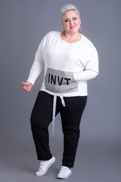 Bluza z ozdobną kieszenią ecru