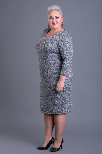 Sukienka dzianinowa szara