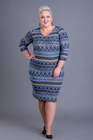 Sukienka dzianinowa wzorek niebieska