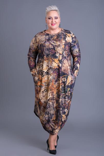 Sukienka jajko jesienne liście