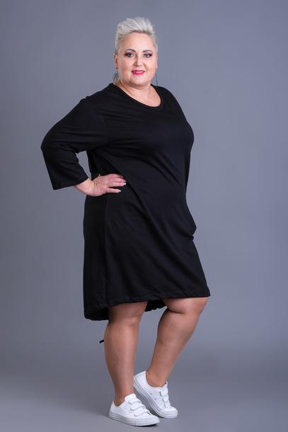 Sukienka dresowa dół wiązany czarna