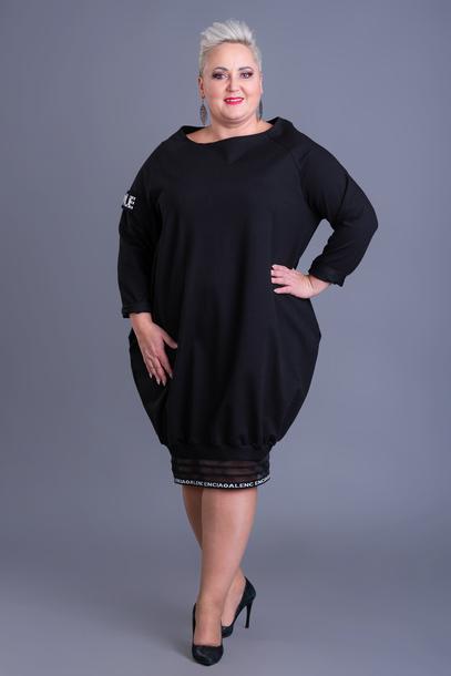 Sukienka dresowa Style czarna