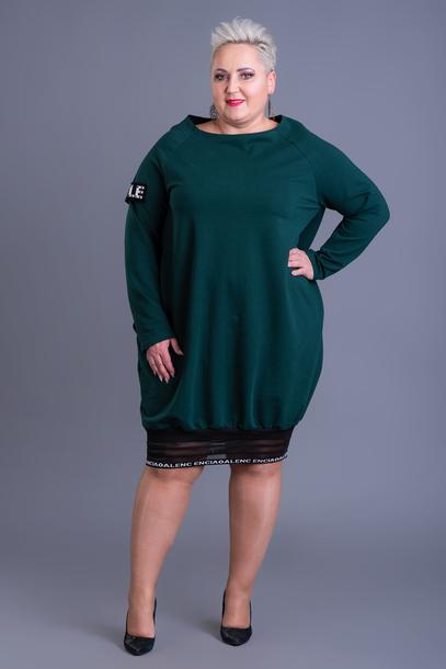 Sukienka dresowa Style zielona