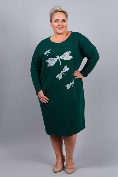 Sukienka dresowa ważka zielona