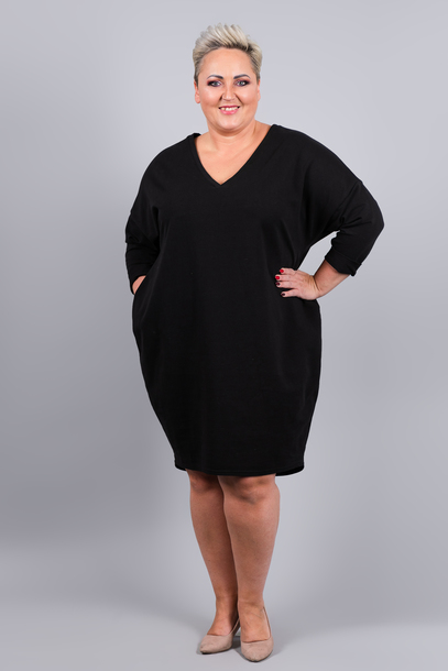 Sukienka dresowa GUM czarna