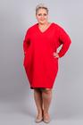 Sukienka dresowa GUM czerwona