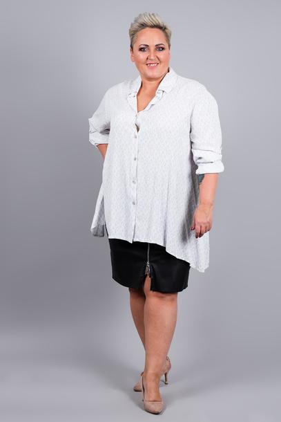 Koszula z nadrukiem biała