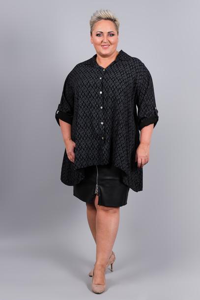 Koszula nadruk czarna